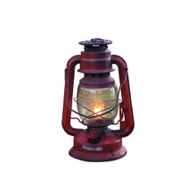 Old Red Lantern Isolated On White Background. Clipping Path.