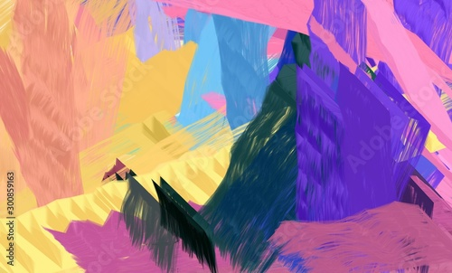 Foto auf Leinwand Lachs abstract dark salmon, dark slate blue and slate blue color background illustration. can be used as wallpaper, texture or graphic background