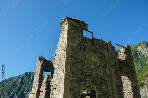 Photo War ruin in the Italian Alps