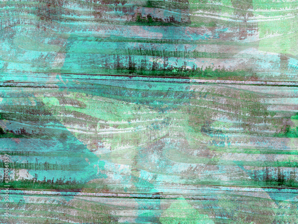 Texture of old wood. Colorful grunge background. Damaged surface.