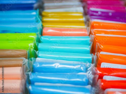 Fotografía  Colored paper close-up