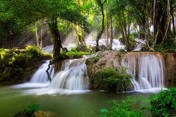 Panel Szklany Wodospad Pha Tad Waterfall.