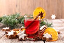 Christmas Mug Tea With Cookies