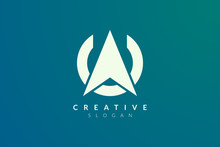 Compass. The Logo Design Is A Blend Of Circles With The Direction Of The Arrow. Minimalist And Modern Vector Illustration Design Suitable For Business And Brands