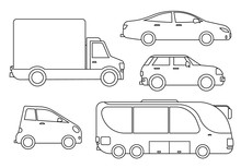 Outline Cars Set.