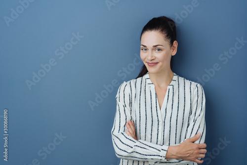 Carta da parati  Happy friendly stylish young woman