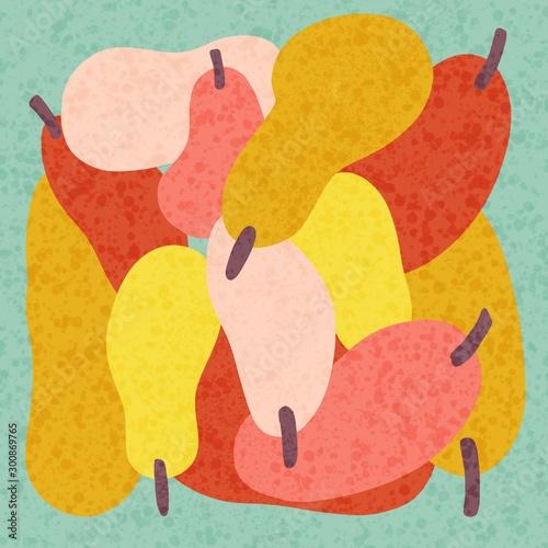 still life with pear illustration Fototapeta