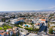 Aerial: The cityscape of Limassol