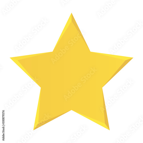 Fotomural  Gold Star icon vector isolated on white background
