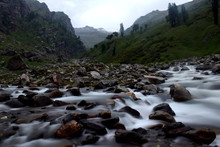 River In The Himalayan Mountains