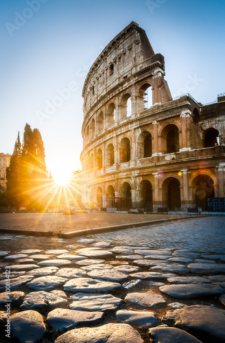 Sunrise at the Rome Colosseum, Italy Fototapete