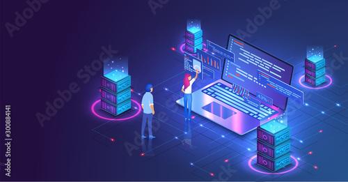 Fotomural Web hosting or programming concept