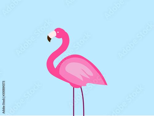 Pink flamingo, illustration, vector on white background.