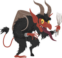 Krampus Austria Christmas Illustration