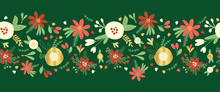 Christmas Flower Garland Seaml...