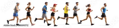 Fotomural Men and women running a marathon
