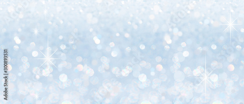 Fototapeta Winter christmas sparkling shiny silver bright glittering abstract bokeh background obraz