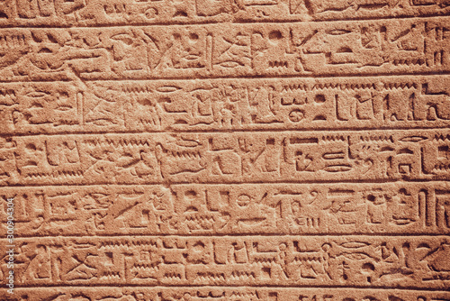 Fotomural  old egypt hieroglyphs carved on the stone