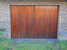 Old Wooden Door Garage