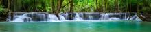 A Beautiful Waterfall Deep In ...