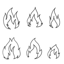 Doodle Fire Icon Illustration ...
