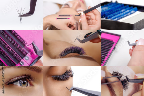 Eyelash extension procedure Fototapeta