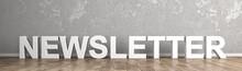 Newsletter Schriftzug Für Hom...