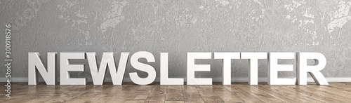 Fototapeta Newsletter Schriftzug für Homepage obraz