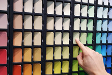 Paint Color Selection From Swatch Palette