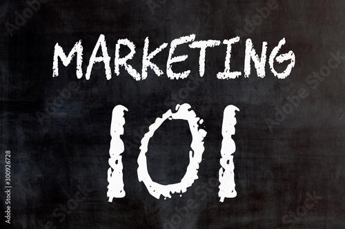 Marketing 101 Concept Canvas Print