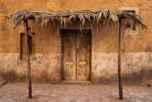 Exterior Of Abandoned Mud Houses.Middle Eastern And Arabic Style.