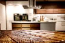 Wooden Table Background Of Fre...