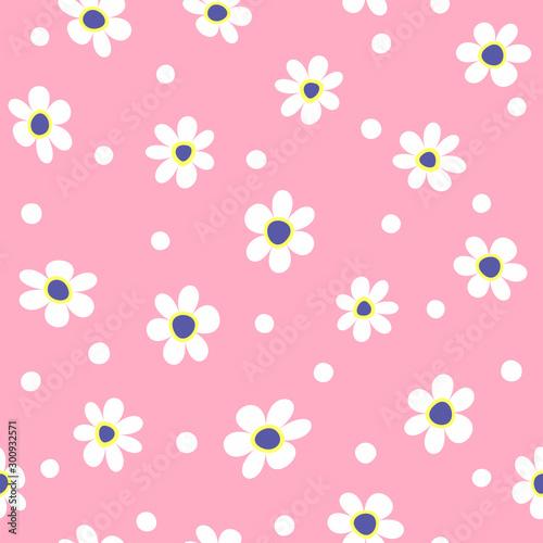 Obraz na płótnie Cute floral seamless pattern