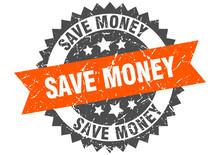 Save Money Grunge Stamp With O...