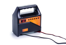 Car Battery Charger On White Background Isolation
