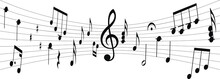 Silhouette Of Musical Score Wi...