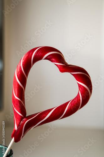 Fotografie, Obraz  red sweet heart on white background