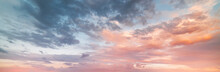 Beautiful Sunset Sky. Nature Sky Backgrounds.