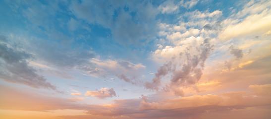 Beautiful sunset sky. Nature sky backgrounds.