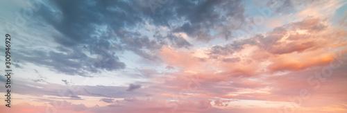 Fotomural Beautiful sunset sky. Nature sky backgrounds.