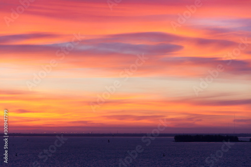 Poster Corail Sunset Sky in Tampa