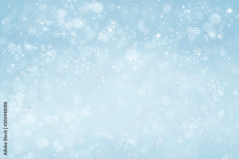 Fototapeta blue winter background with snowflakes