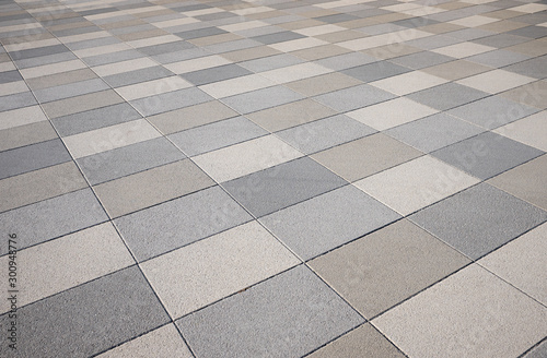 Photographie pavement with washed concrete slabs, diagonally