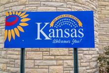 Entering Kansas Welcome Sign