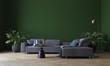 Leinwanddruck Bild - Modern deign of interior living room and green wall pattern texture background