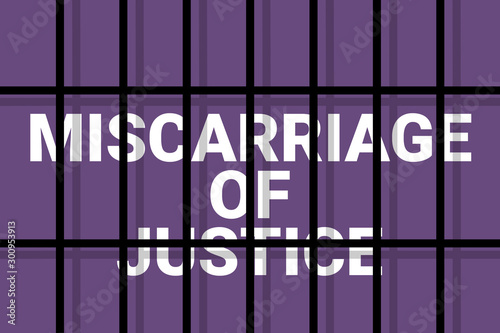 Photo Miscarriage of justice / failure of justice - prisoner is accused, sentenced and convicted based on judicial failure, error, mistake, fault and incorrect judgement