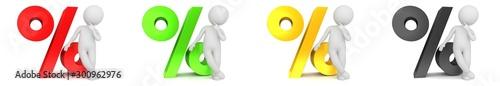 Fotografía percent percentage sign red yellow gold green black interest rate sale symbol pr