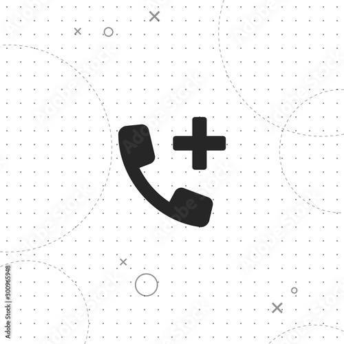 Photo Add contact, vector best flat icon