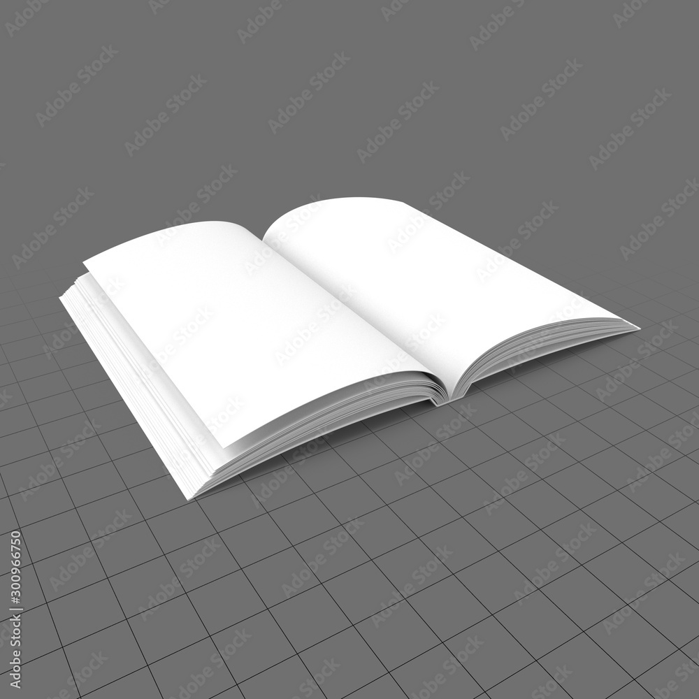Fototapety, obrazy: Open softcover book