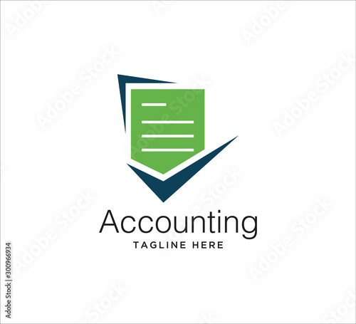 Fototapeta accounting financial logo design concept obraz